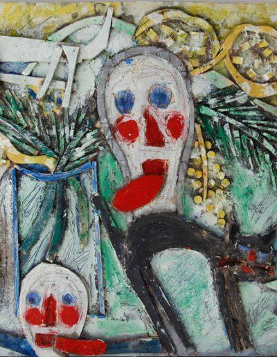 Mimosas, chattes et tronches de mort n°2, 2012.