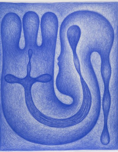 Dessin bleu n°5, 2000-2004.