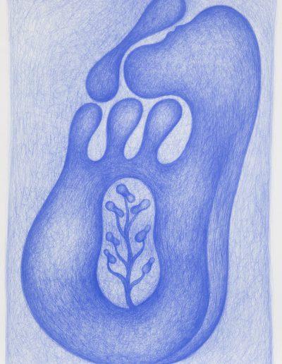 Dessin bleu n°11, 2000-2004.