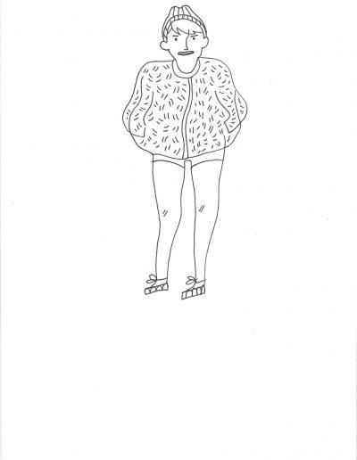 Autoportrait avec doudoune offerte par ma mère, nouvelles Vanz aussi, 2016.