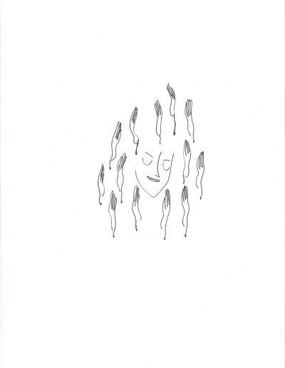 Des sons comme des serpents, stylo-sur-papier, 2016.