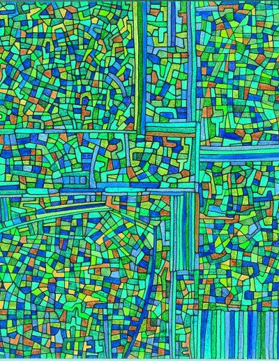 Algorithme visuel n°1, 2011.