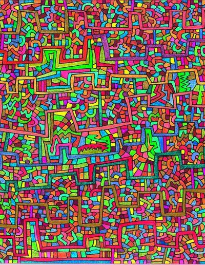 Algorithme visuel n°7, 2013.