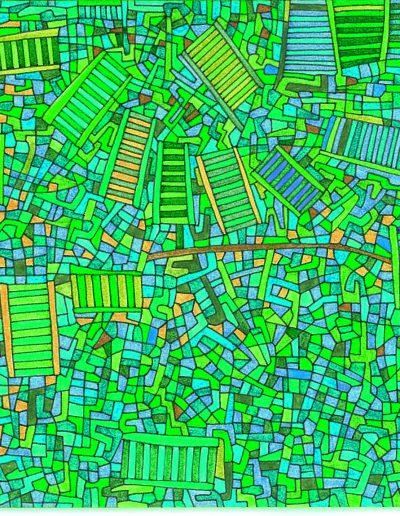Algorithme visuel n°14, 2014.