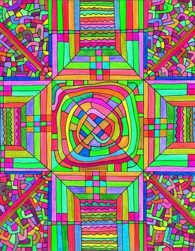 Algorithme visuel n°15, 2014.