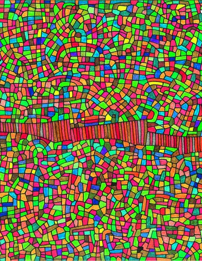 Algorithme visuel n°16, 2014.