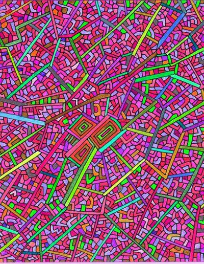 Algorithme visuel n°17, 2014.