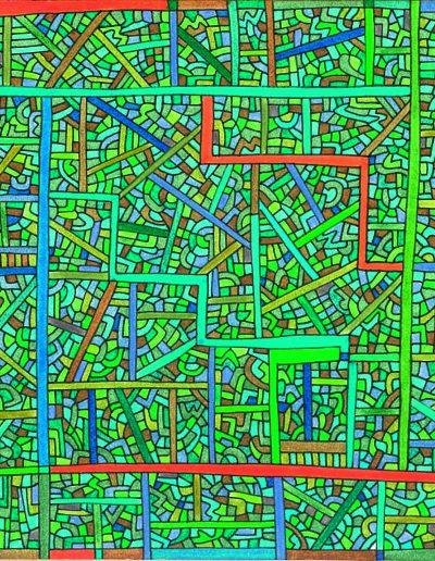 Algorithme visuel n°22, 2015.