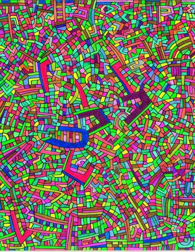 Algorithme visuel n°32, 2015.