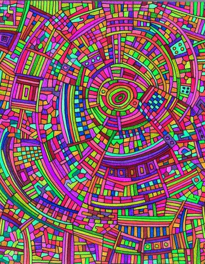 Algorithme visuel n°37, 2016.