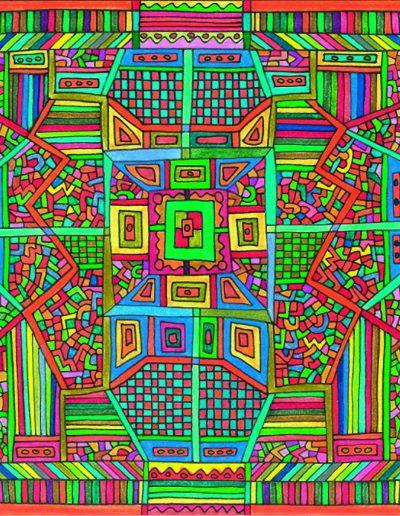 Algorithme visuel n°39, 2016.