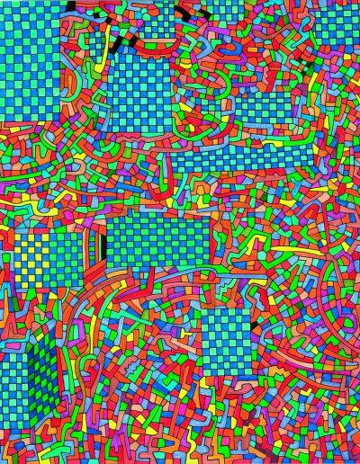 Algorithme visuel n°53, 2013.