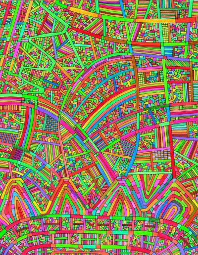 Algorithme visuel n°64, 2016.