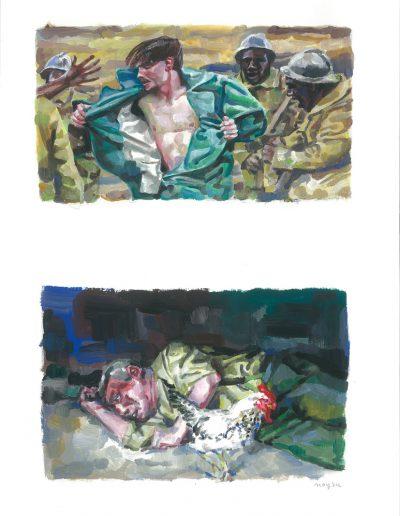 La peur n°12, Dyptique, 2015.