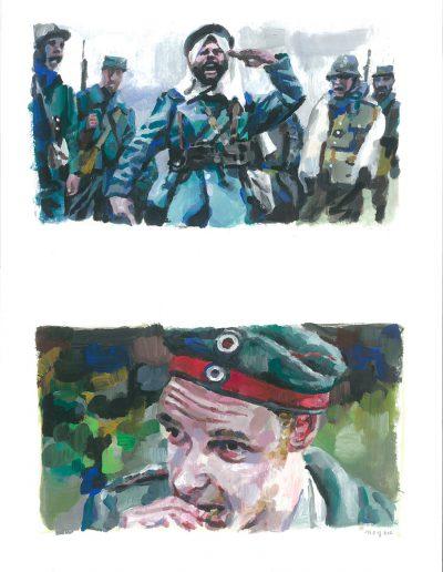 La peur n°2, Dyptique, 2015.