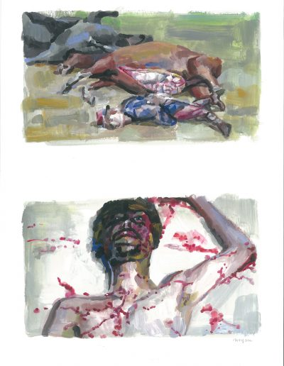 La peur n°4, Dyptique, 2015.