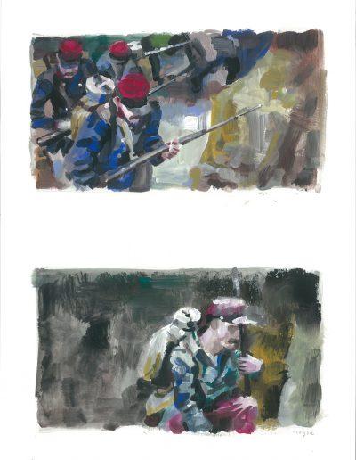 La peur n°6, Dyptique, 2015.