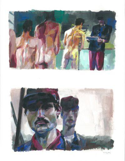 La peur n°9, Dyptique, 2015.