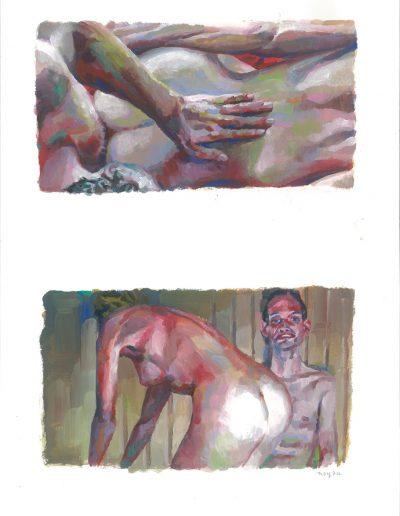 L'histoire de Richard O n°5, Dyptique, 2016.