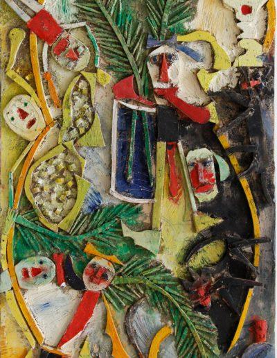 Mimosas, chattes et tronches de mort n°3, 2012.