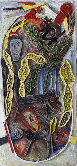 Mimosas, chattes et tronches de mort n°8, 2012.