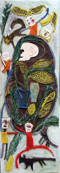 Mimosas, chattes et tronche de mort n°16, 2012.