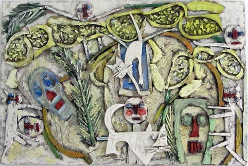 Mimosas, chattes et tronches de mort n°10, 2012.