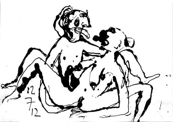 Dessin érotique n°1, 2012.