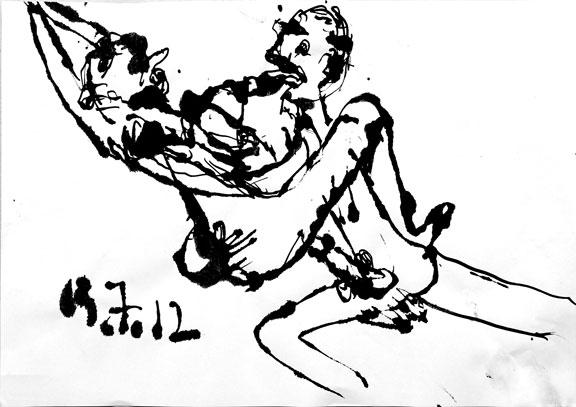 Dessin érotique n°2, 2012.