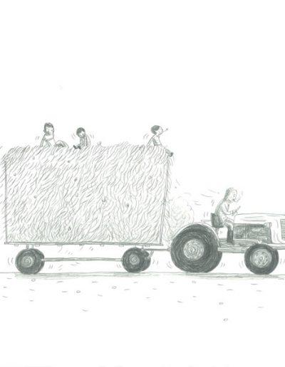 Modzons, Sur le char à foin, 2017.