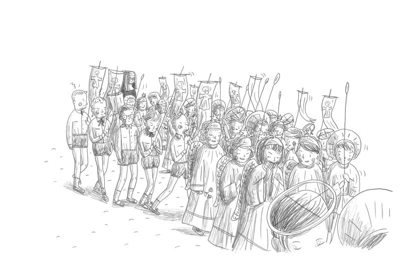 Procession, Culotte de laine, 2017.