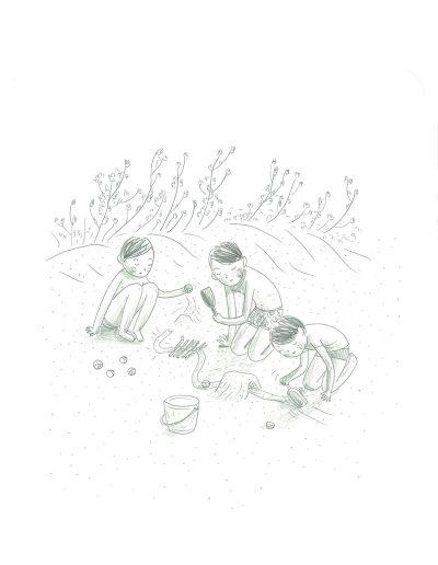 Vacances, Jeux de sable, 2017.