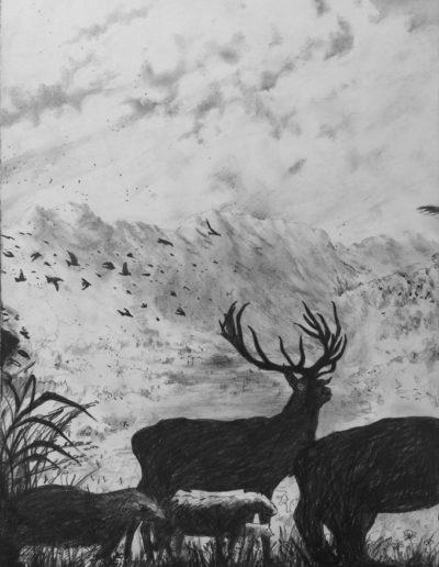 Les animaux de distance, Triptyque 1, 2015.