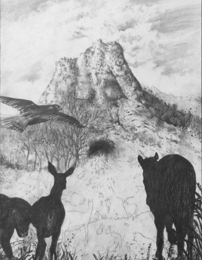 Les animaux de distance, Triptyque 2, 2015.